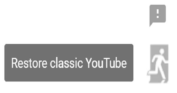 restore youtube