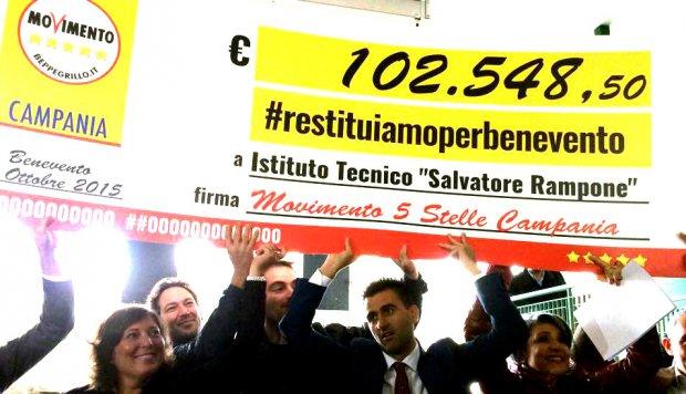 Assegno Rampone Benevento M5S