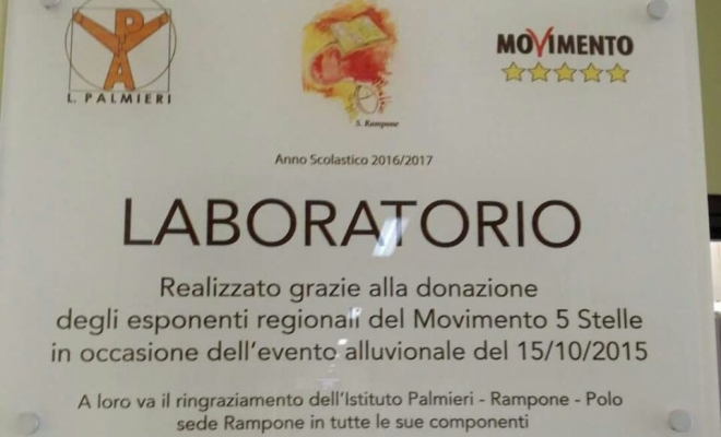 targa m5s Rampone Benevento