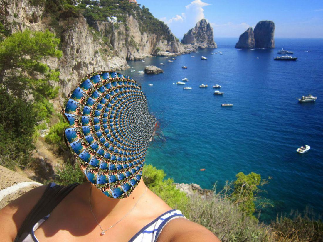 Kaleidoscopic selfie