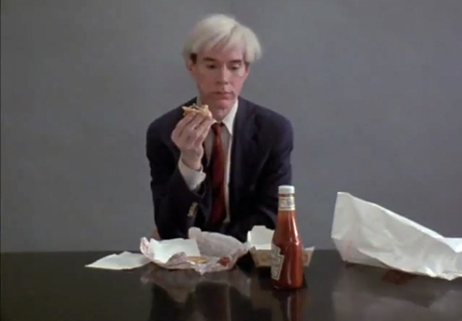 Andy Wharol mangia un Whopper