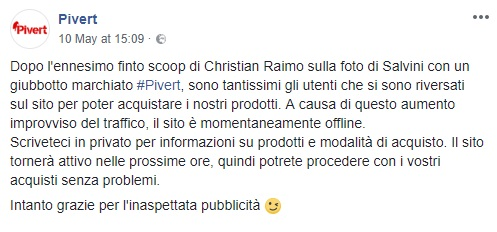 Post Facebook Pivert