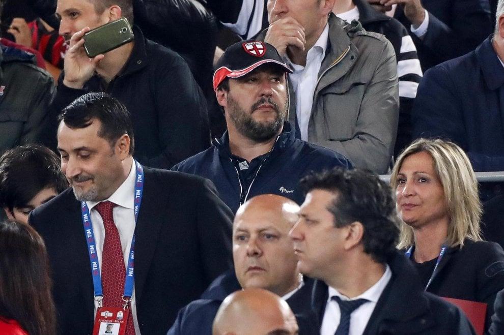 Salvini ultras Milan Pivert
