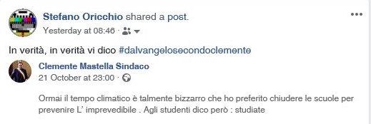 mastella facebook post chiusura scuole
