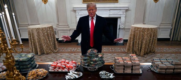 Trump shutdown hamburger